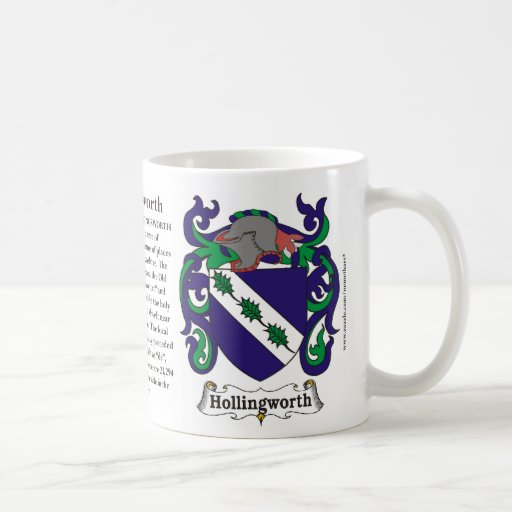 Hollingsworth Family Coat of Arms Mug