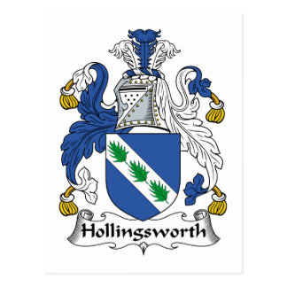 Hollingsworth Family Crest Postcard