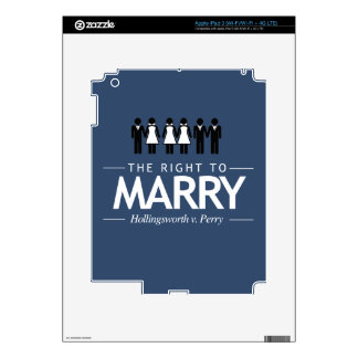 HOLLINGSWORTH V. PERRY THE RIGHT TO MARRY -.png iPad 3 Skin