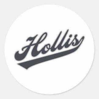 Hollis Classic Round Sticker