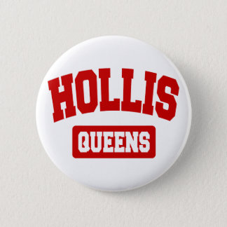 Hollis, Queens, NYC Button