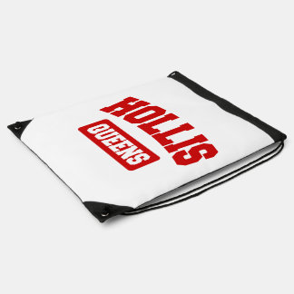 Hollis, Queens, NYC Drawstring Backpack