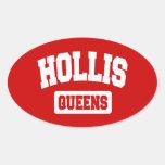 Hollis, Queens, NYC Oval Sticker