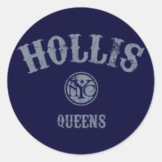 Hollis Round Stickers