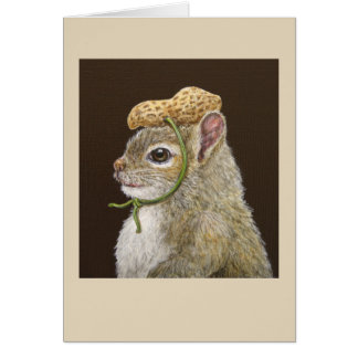 Hollis the baby squirrel greeting card