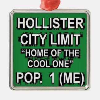 Hollister City Limit Ornament