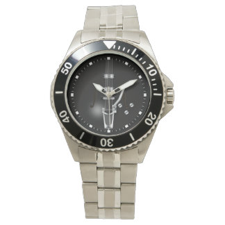Hollow Body Black Guitar Wrist Watches