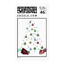 Hollow Christmas Tree Postage stamp