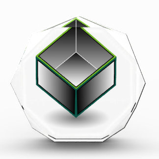 Hollow cube- an enclosed space with open top acrylic award