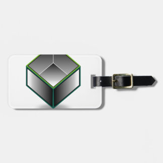 Hollow cube- an enclosed space with open top bag tag