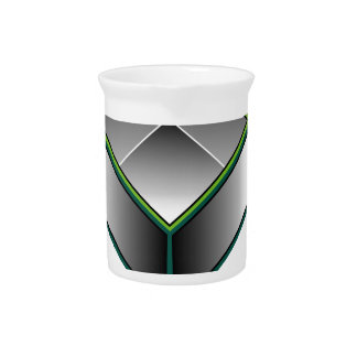 Hollow cube- an enclosed space with open top beverage pitcher