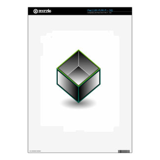 Hollow cube- an enclosed space with open top decal for the iPad 2