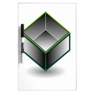 Hollow cube- an enclosed space with open top Dry-Erase board