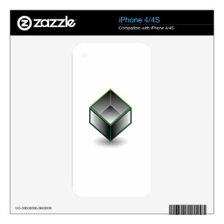 Hollow cube- an enclosed space with open top iPhone 4S decal