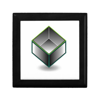 Hollow cube- an enclosed space with open top jewelry box