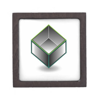 Hollow cube- an enclosed space with open top keepsake box