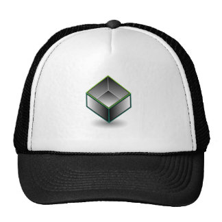 Hollow cube- an enclosed space with open top trucker hat