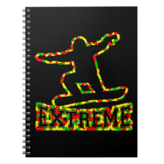 HOLLOW EXTREME SNOWBOARDER IN RGY CAMO NOTEBOOK