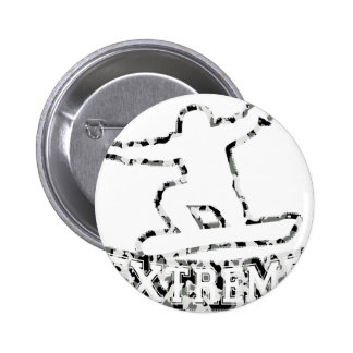 HOLLOW EXTREME SNOWBOARDER IN URBAN CAMO PINBACK BUTTON