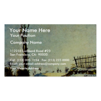 Hollow In The Snow By Guillaumin Jean-Baptiste Arm Business Card