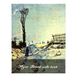 """Hollow In The Snow By Guillaumin Jean-Baptiste Arm 8.5"""" X 11"""" Flyer"""