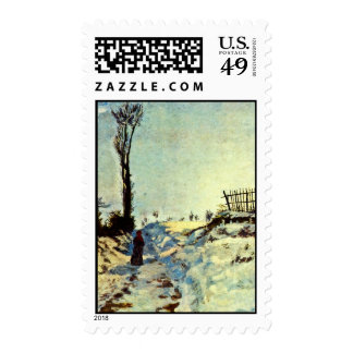 Hollow In The Snow By Guillaumin Jean-Baptiste Arm Stamps