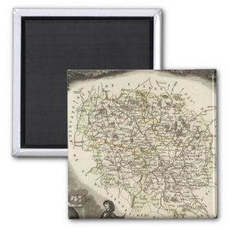 Hollow Maps 2 Inch Square Magnet