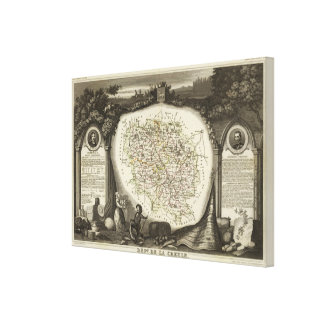 Hollow Maps Canvas Print