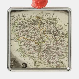 Hollow Maps Metal Ornament