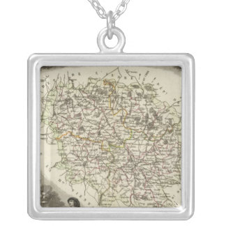 Hollow Maps Silver Plated Necklace