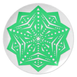 Hollow out stars: green dinner plate