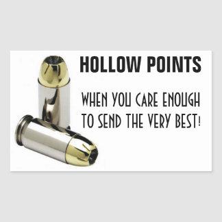 HOLLOW POINTS RECTANGULAR STICKERS