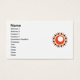 Hollow star business card