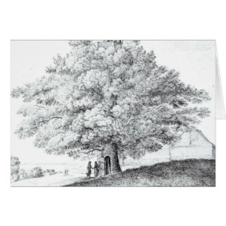 Hollow Tree at Hampstead, 1663 Card