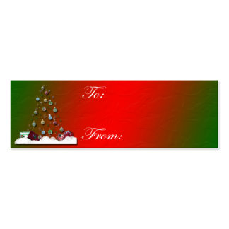 Hollow Tree Christmas Tag Business Card Templates