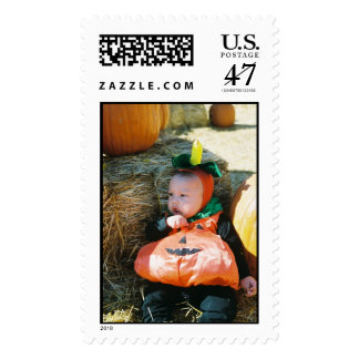 Holloween baby postage stamp