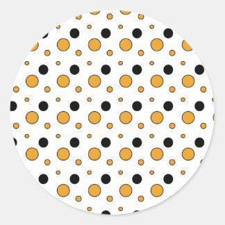 holloween-círculos pegatina redonda