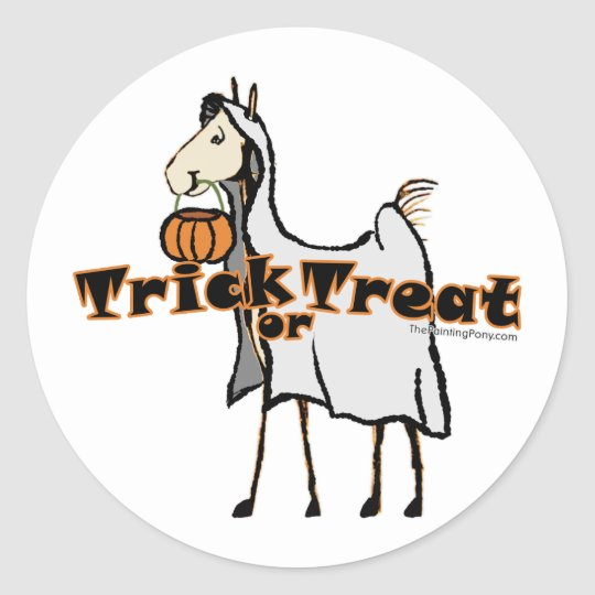 Holloween Foal Classic Round Sticker
