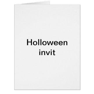 Holloween invit card
