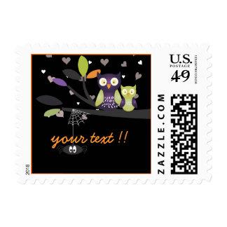 Holloween Owls + hearts/Custom Stamps