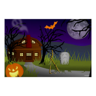 HOLLOWEEN POSTERS - PARTY SUPPLIES - HAUNTED GIFTS