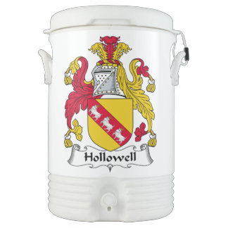 Hollowell Family Crest Igloo Beverage Cooler