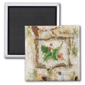 HOLLY 2 INCH SQUARE MAGNET