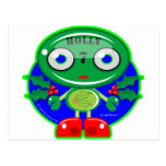 Holly 7 Holiday Robot Postcard