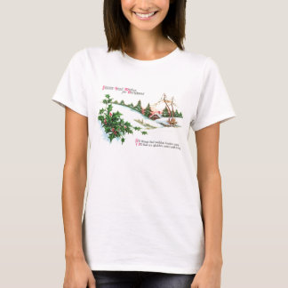 Holly and a House in the Hills Vintage Christmas T-Shirt