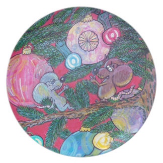 Holly and Angel Dinner Plate