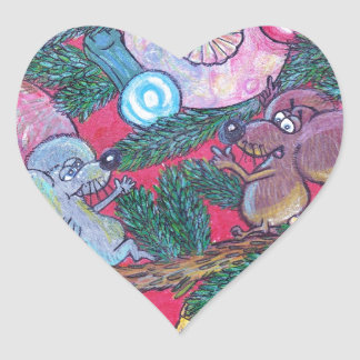 Holly and Angel Heart Sticker