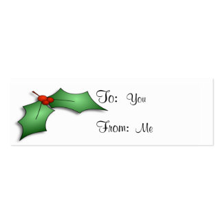 Holly and Berries Business Cards