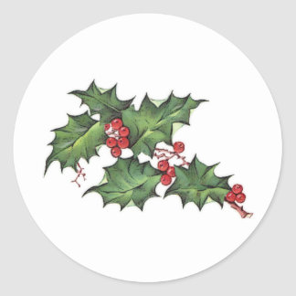 Holly and Berries   Christmas Holiday Stickers