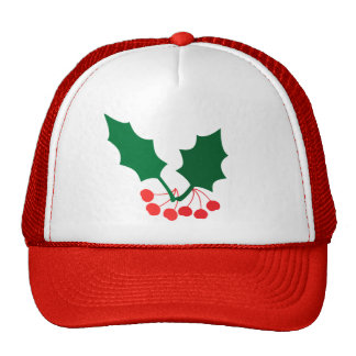 Holly and Berries Trucker Hats